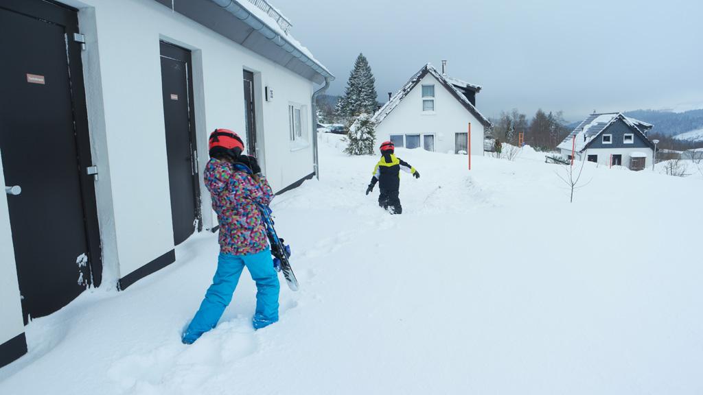 Op weg naar de eerste skiles.