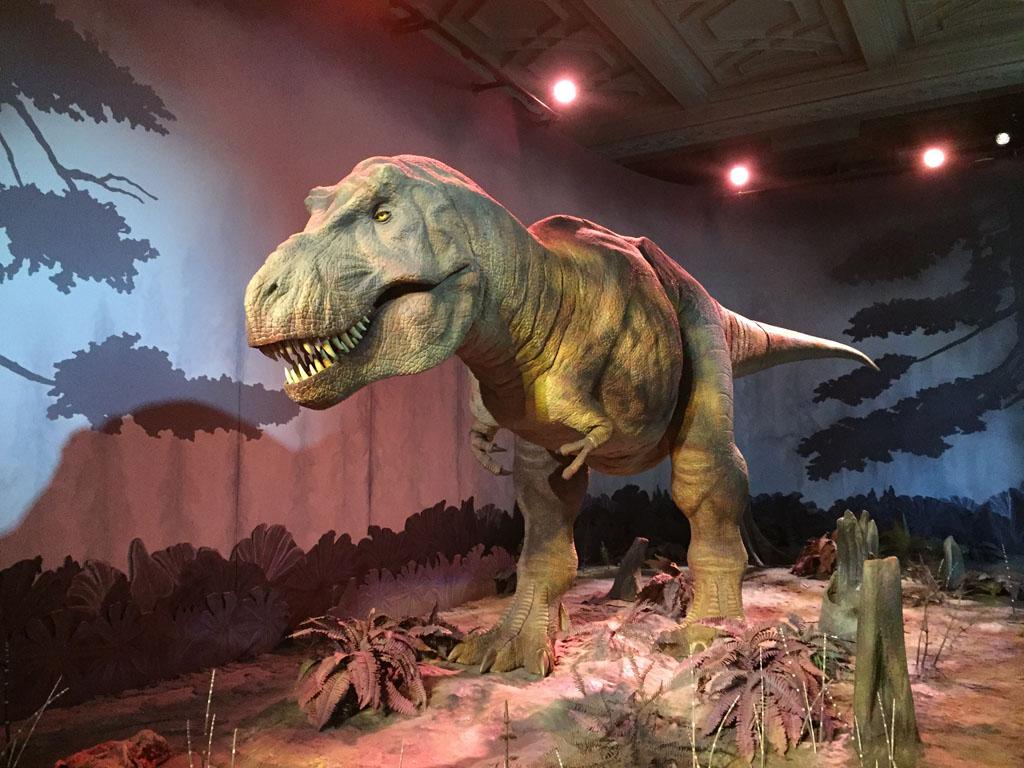 De bewegende T-rex.