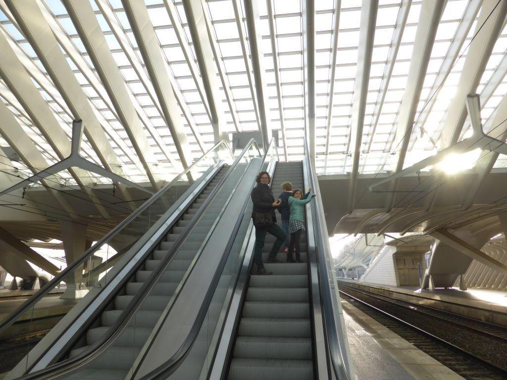 Op verkenning in het station Liège-Guillemins