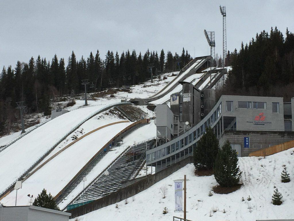 De skihelling in Lillehammer.