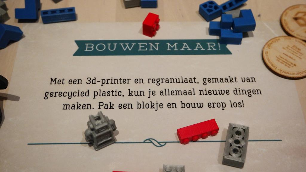 Moderne recycling met een 3D-printer.