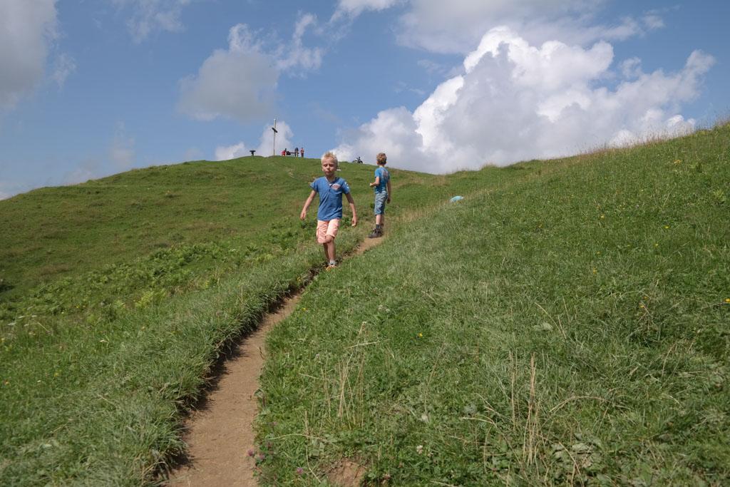Wandelen op de Hündletopf in Oberstaufen.
