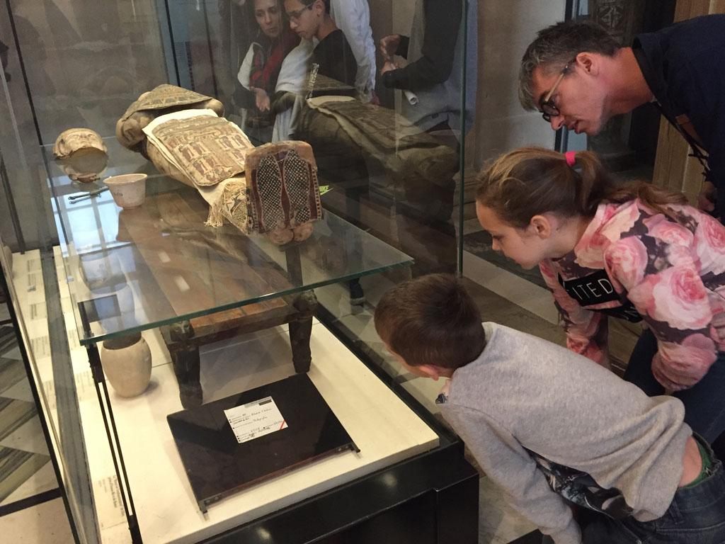 De mummy bestuderen.