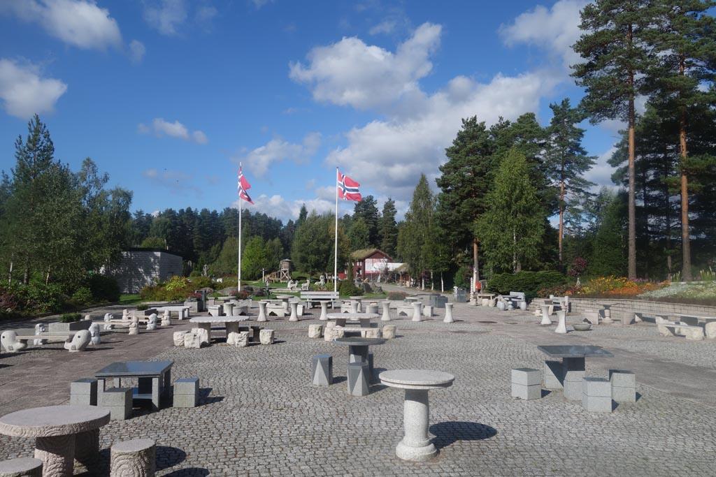 In het mineralparken zijn meer dan genoeg picknickplekken te vinden.