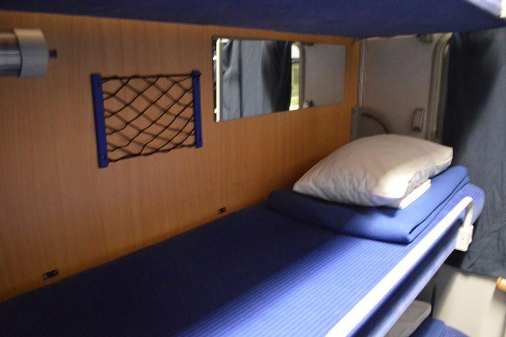 Slaapplaats in de trein.