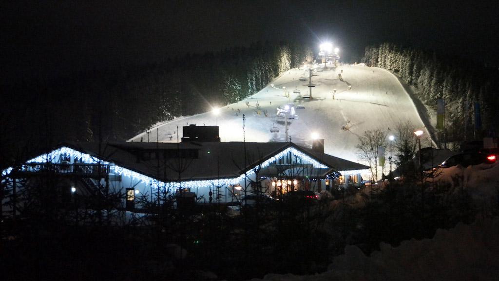 Een deel van de skipistes in Winterberg is enkele avonden per week verlicht.