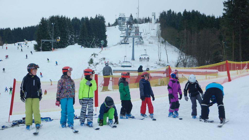 Klaar voor de eerste skiles.
