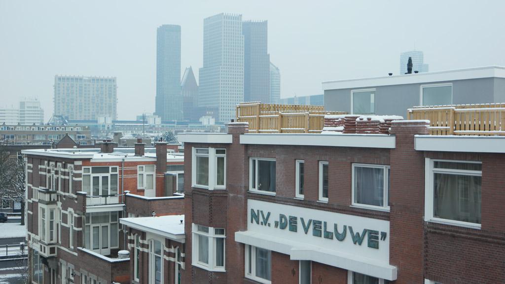 Uitzicht vanuit onze kamer.