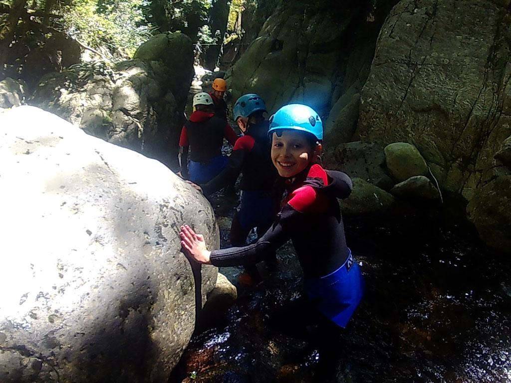 Canyoning in de Ardeche (foto: Jolinda).