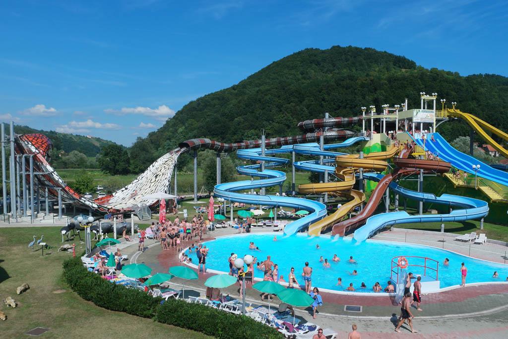 Aqualuna, het aquapark bij Terme Olimia in Slovenie.