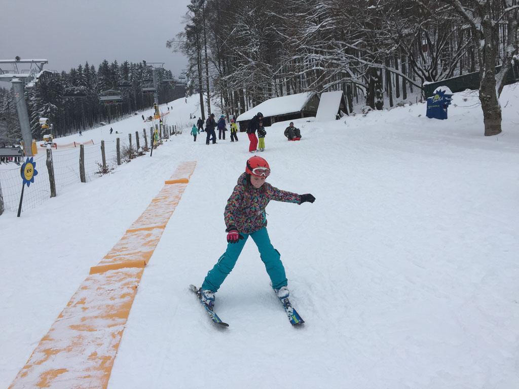 Maureen in d'r skikleding.