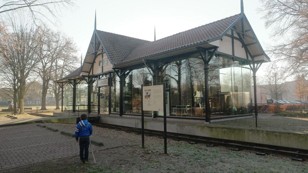 Het oude tramstation in Gorssel.