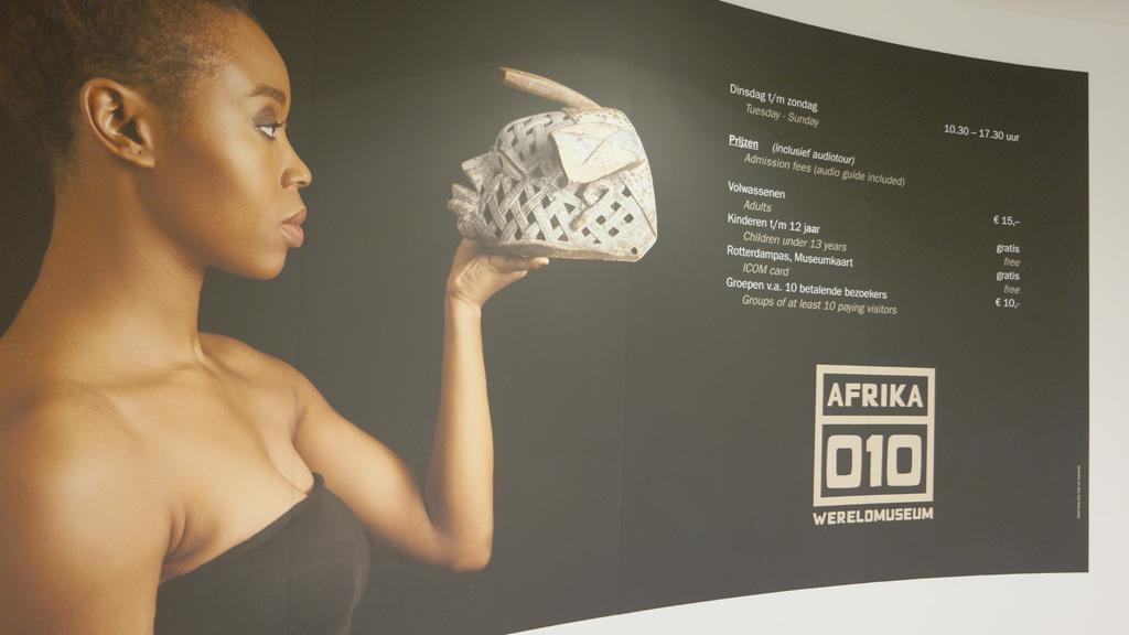 De tijdelijke tentoonstelling Afrika010.
