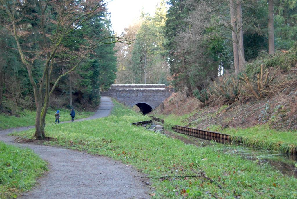 De omgeving is afwisselend. Bos, spreng, maar ook bruggen en andere bouwsels uit de vorige eeuw kom je tegen.