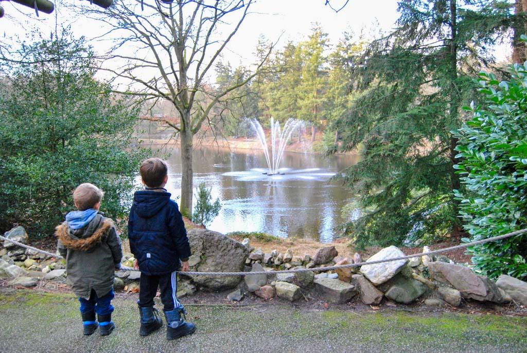 Een kijkje nemen bij de fontein. Rond de vijver kun je kun je wandelen. Je komt er bijvoorbeeld een cascade tegen.