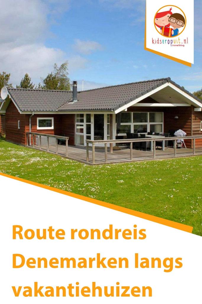 Route rondreis langs vakantiehuizen in Denemarken.