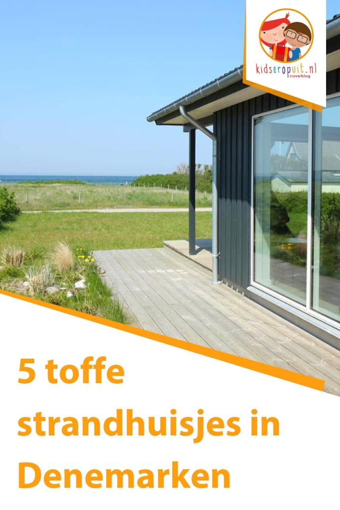 Vakantiehuis aan het strand in Denemarken.