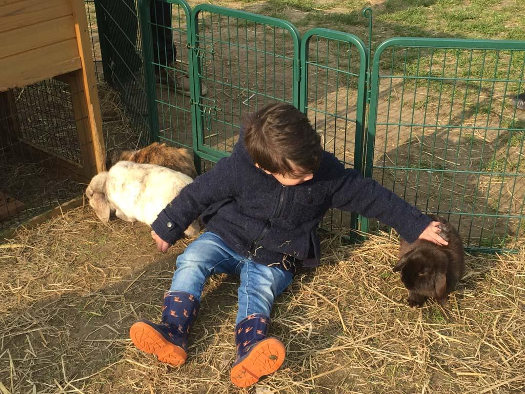 En de konijntjes zijn ook super lief!