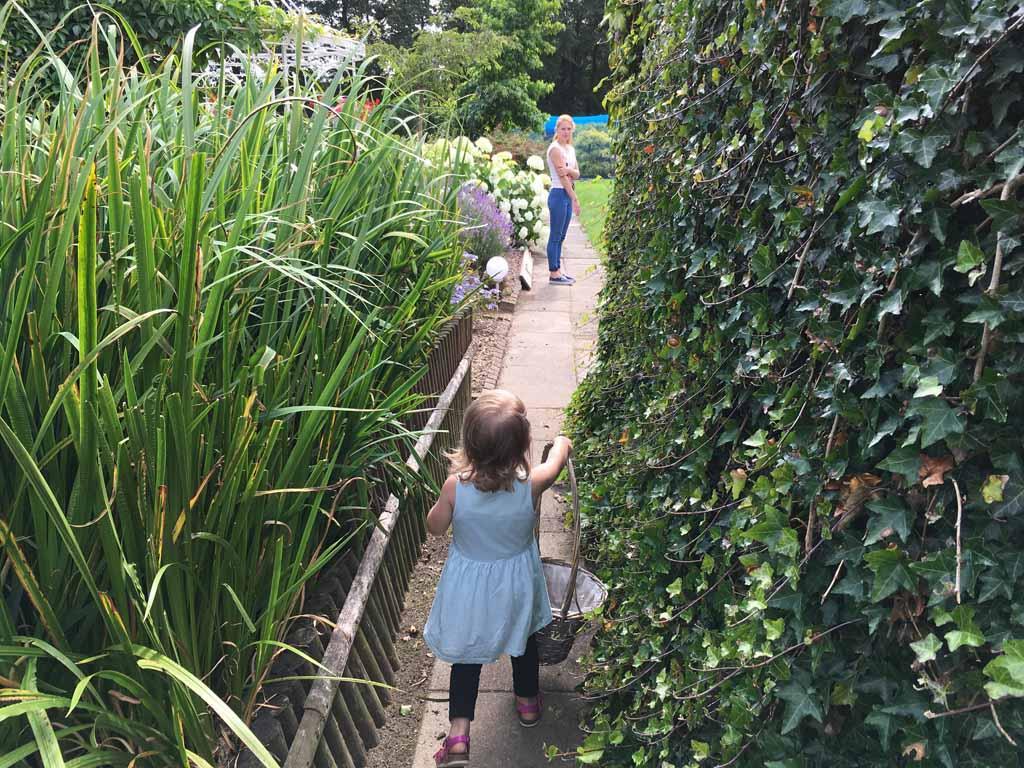 Op weg naar de pluktuin bij Jopie's Groene Wereld