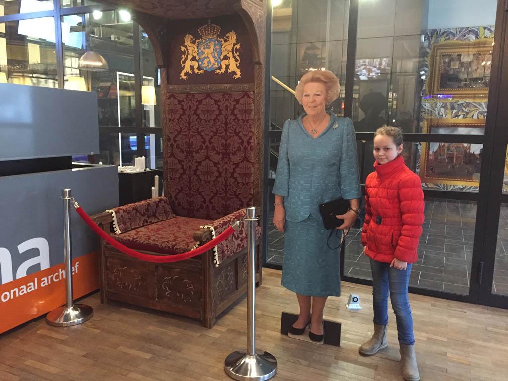 Even poseren met prinses Beatrix.