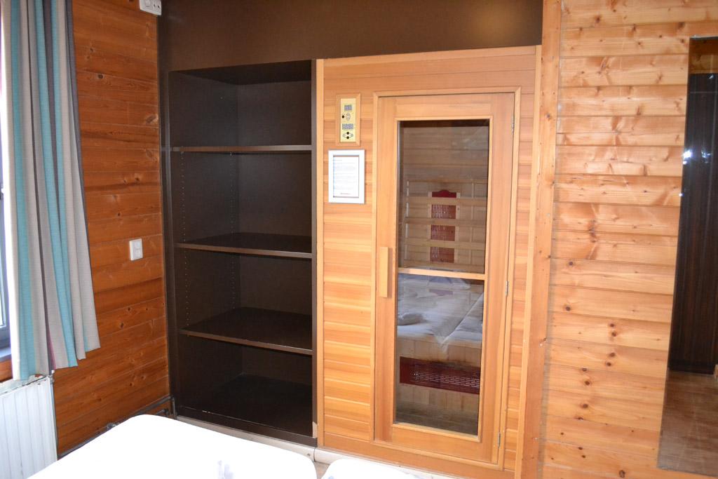 De sauna in mijn slaapkamer
