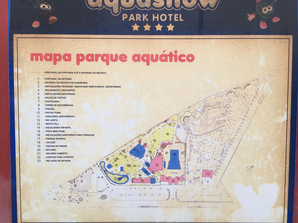 Plattegrond van het park