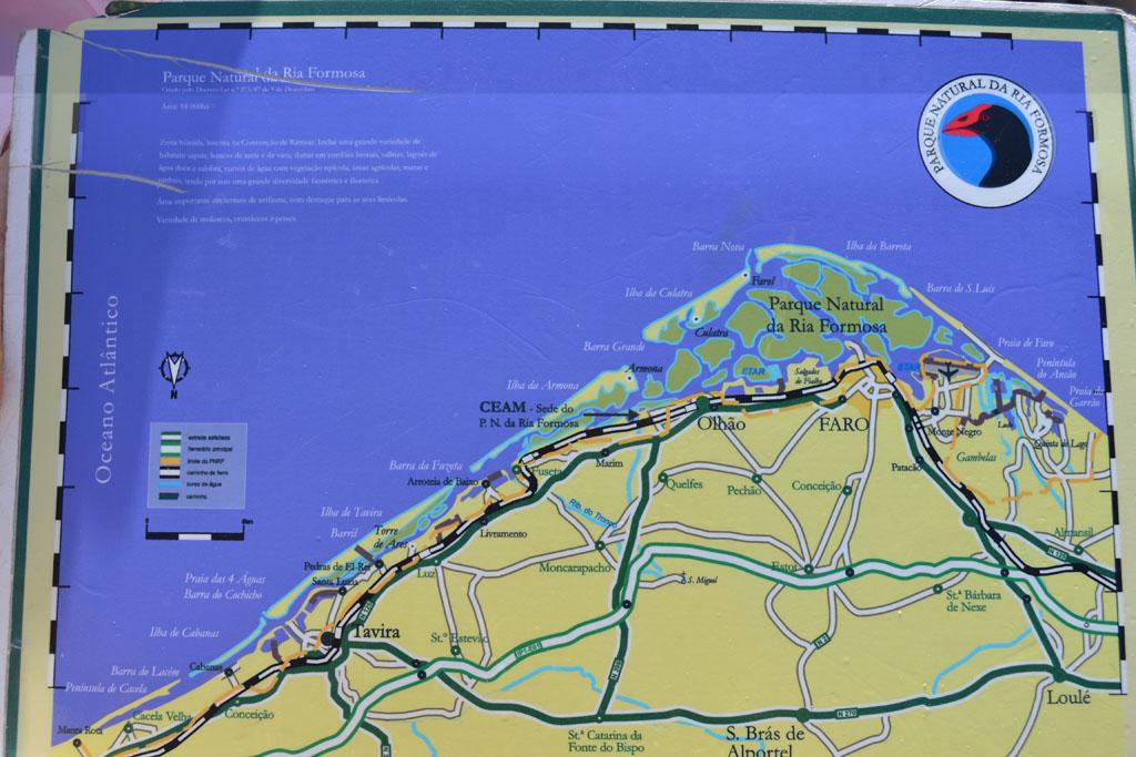 Het Ria Formosa Natural Park en het eiland