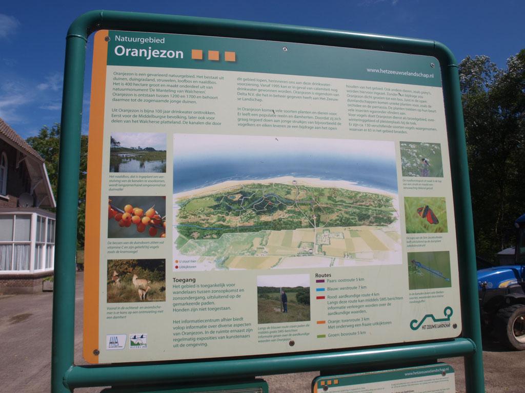 Een overzicht van natuurgebied Oranjezon.