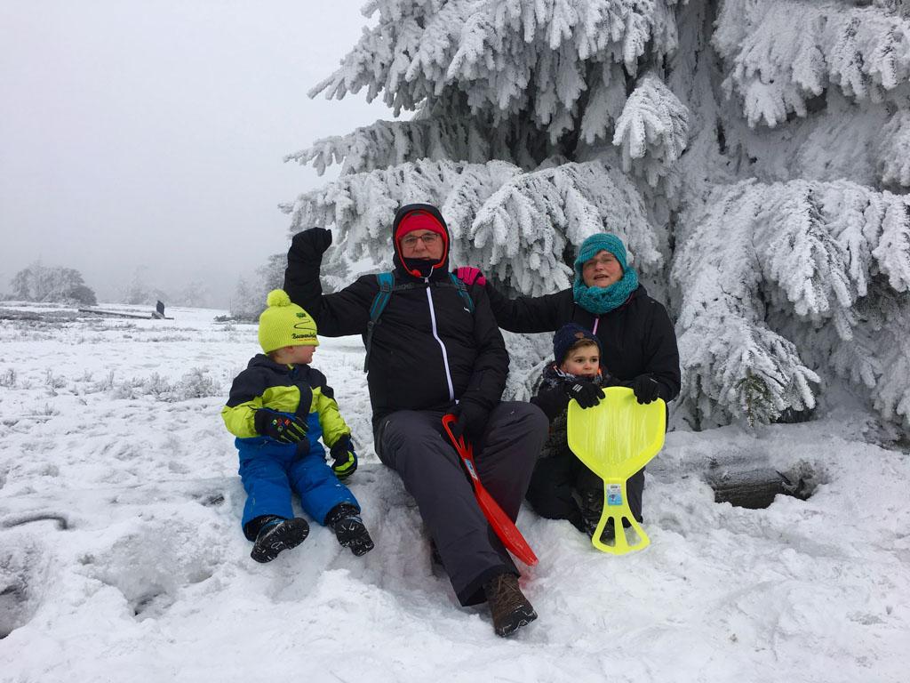 Boven op de berg van Willingen is het een prachtig winterplaatje.