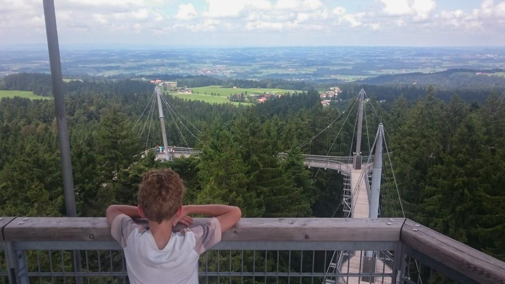 Vanaf Skywalk Allgäu heb je een prachtig uitzicht over de Duitse Alpen.