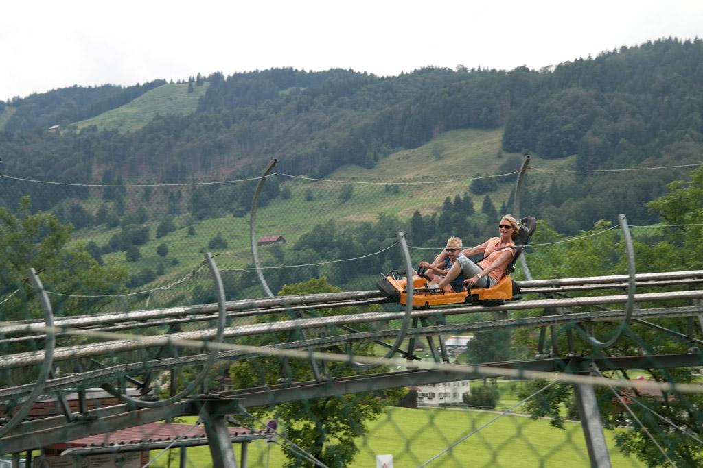 Bergwelt is de langste rodelbaan van Duitsland. Heerlijk naar beneden suizen.