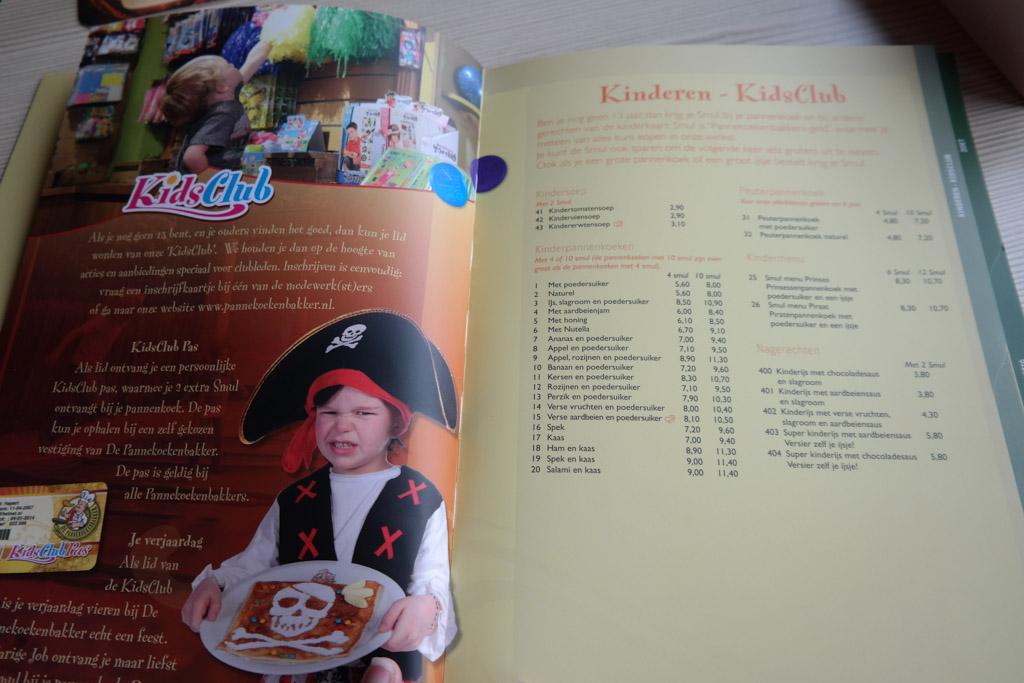 De menukaart met ontzettend veel keuze voor betaalbare prijzen.