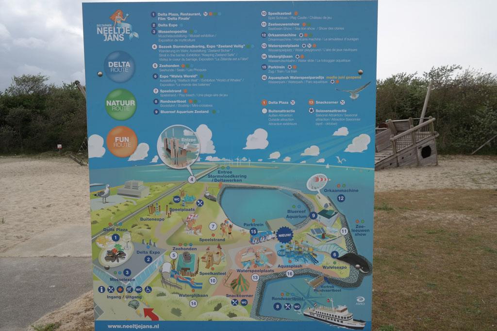Overzicht van het Deltapark Neeltje Jans.