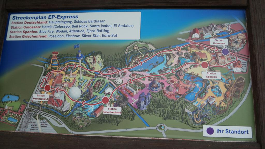 De EP Express brengt je makkelijk van de ene kant van het park naar de andere. Handig met kleine kinderen.