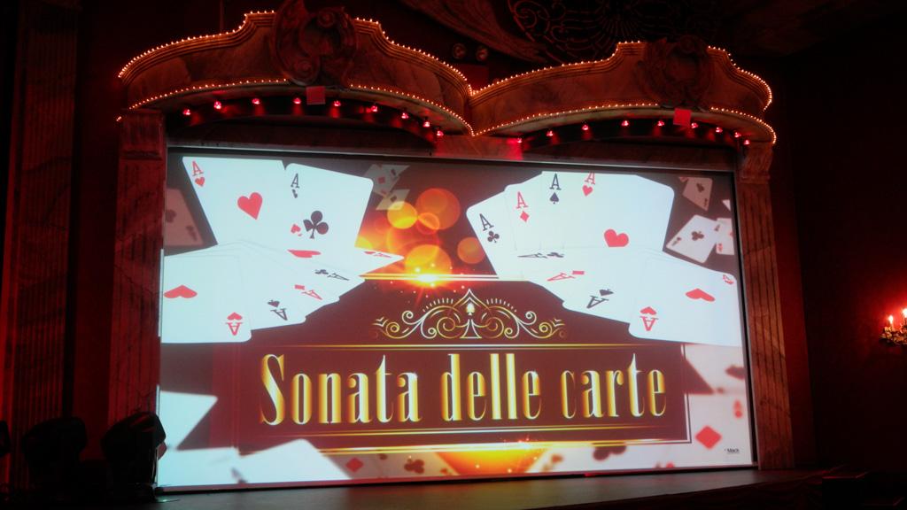 Sonata delle Carte, een variete show.