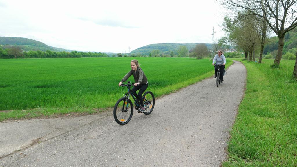 De route is vooral vlak, erg fijn met kinderen.