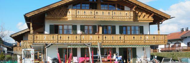 Gästehaus Bernhard in Krün, het vakantieappartement met het mooiste uitzicht op de Duitse Alpen