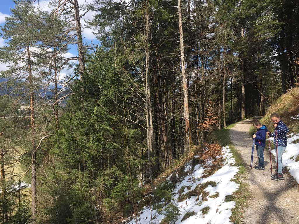 Uitzicht vanaf het Isar-Natur-Erlebnispfad.