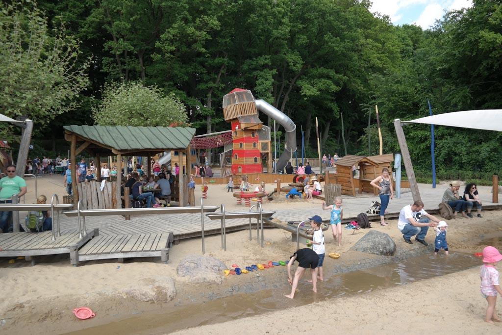 Of nog leuker: spelen met zand én water.