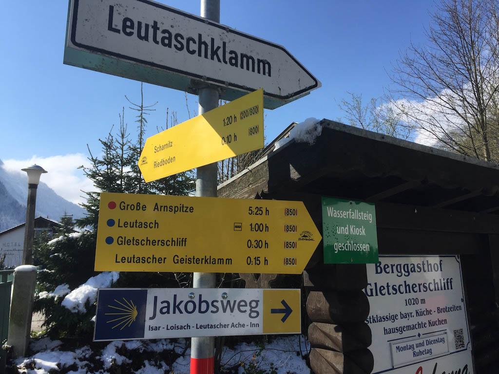 Op weg naar de Leutascher Geisterklamm.