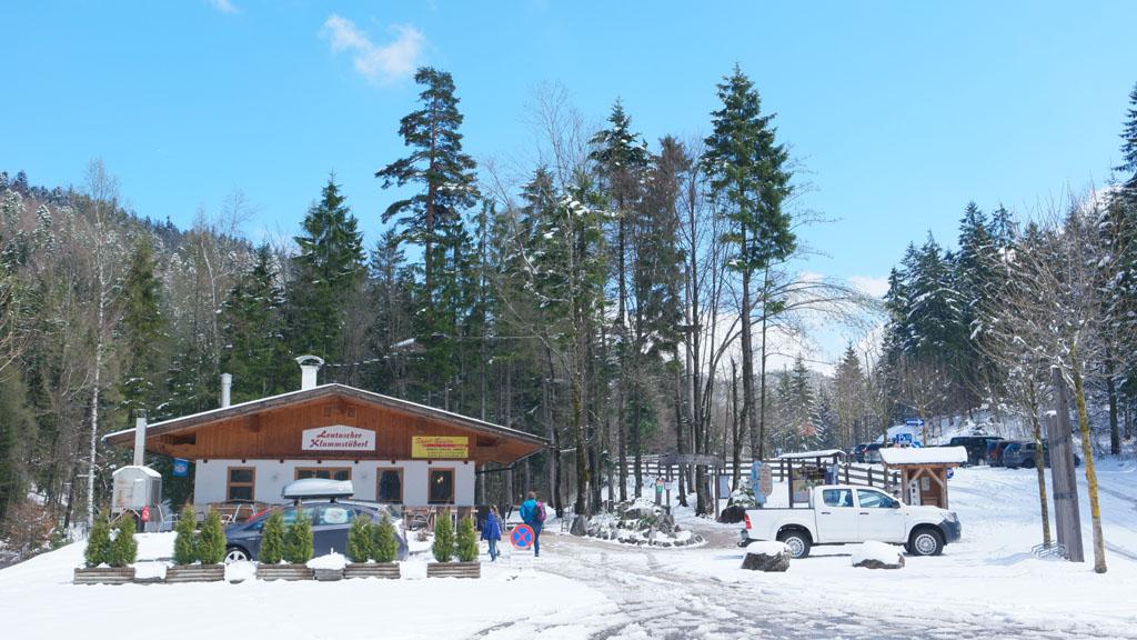 De hut in Leutasch.