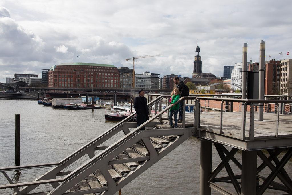 Hamburg, grote havenstad in Duitsland.