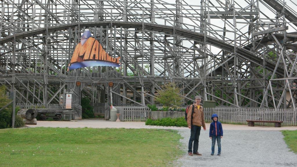 Klaar voor de houten achtbaan.