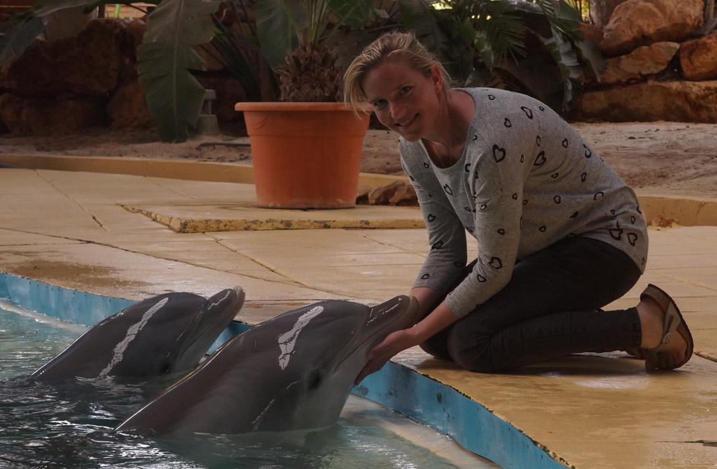 Zelf op de foto met een dolfijn!