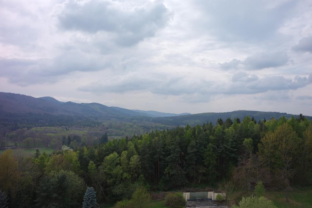Ondanks het wat sombere weer is het uitzicht fantastisch