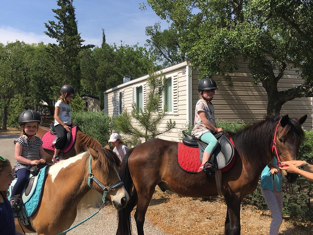 Camping Domaine de la Bergerie_Met de paarden langs het huisje. Hoe gaaf is dat