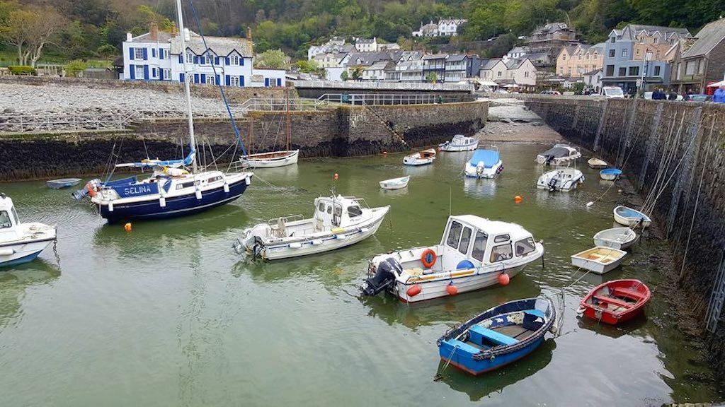 Lynton, een charmant havenplaatsje.
