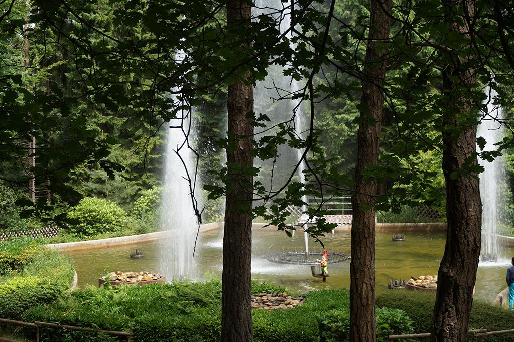 Picknick met uitzicht op de fonteinen