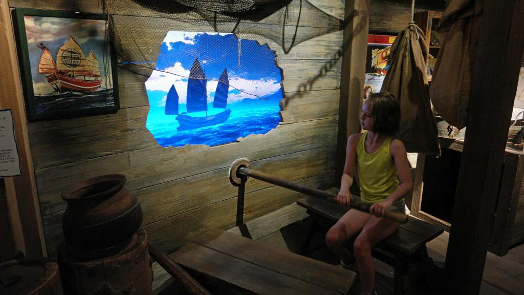 Roeien in Ripley's boot.
