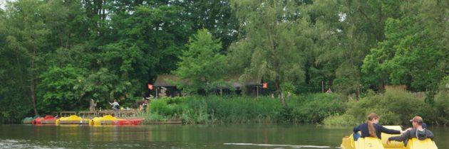 Waterfietsen in natuurgebied De Leemputten, dat is een echt avontuur